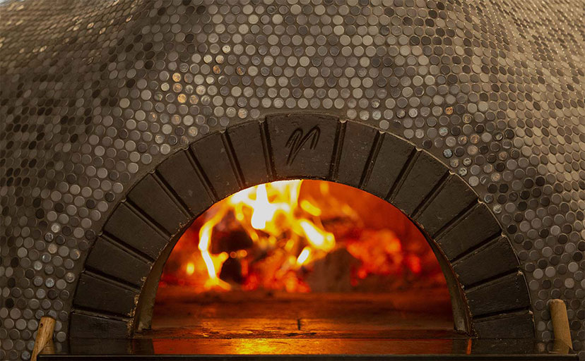 P-Town Pizza's Italian wood-fired pizza oven.